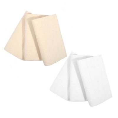 Organic Cotton Flannel Receiving Blankets in Natural (Set of 3)