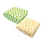 Tadpoles Chevron Print Blanket with Mink Fleece Microfiber Backing
