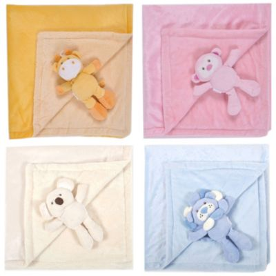 Tadpoles Baby Plush Animal & Blanket Set in Pink