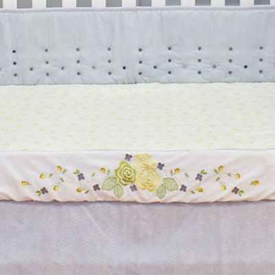 Nurture Imagination™ Mix & Match Yellow Rose Crib Sheet