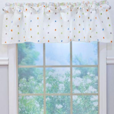 Nurture Imagination™ Mix & Match Cut Dot Window Valance in Neutral