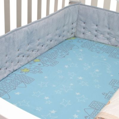 Nurture Imagination™ Mix & Match Nighttime Cityscape Fitted Crib Sheet