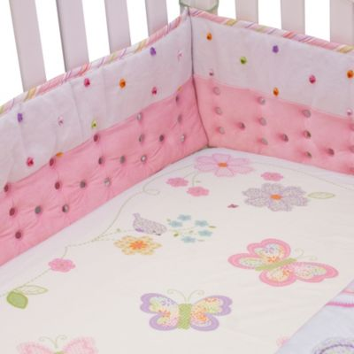Nurture Imagination™ Mix & Match Airflow 4-Piece Cut Dot Crib Bumper Set in Pink