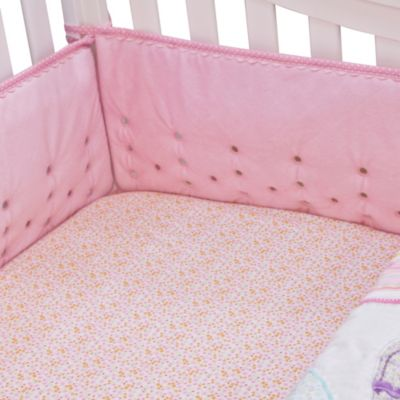 Nurture Imagination™ Mix & Match Airflow 4-Piece Velour Crib Bumper in Pink