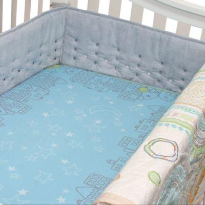 Nurture Imagination™ Mix & Match Airflow 4-Piece Chevron Crib Bumper in Grey