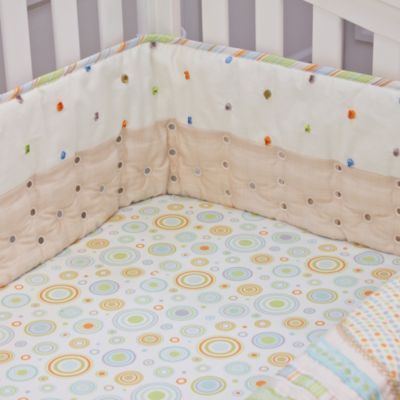Nurture Imagination™ Mix & Match Airflow 4-Piece Cut Dot Crib Bumper Set in Tan
