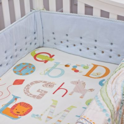 Nurture Imagination™ Mix & Match Airflow 4-Piece Corduroy Crib Bumper in Blue