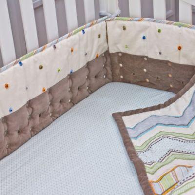 Nurture Imagination™ Mix & Match Airflow 4-Piece Cut Dot Crib Bumper in Taupe