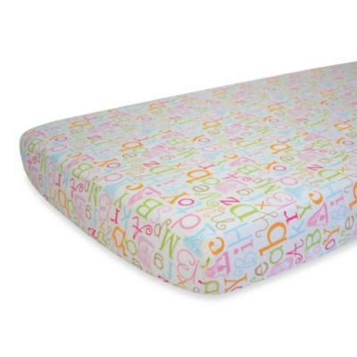 Nurture Imagination™ Mix & Match ABC Print Fitted Crib Sheet in Pink