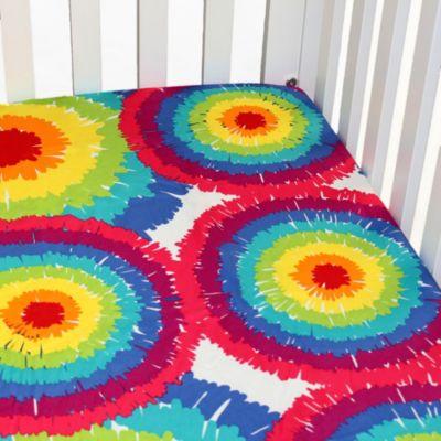 One Grace Place Terrific Tie Dye Crib Sheet