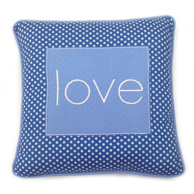 "One Grace Place Simplicity Blue ""Love"" Pillow"