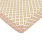 TL Care® Cotton Percale Crib Sheet in Orange Tile