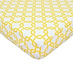 TL Care® Cotton Percale Crib Sheet in Golden Yellow Twill Gotcha