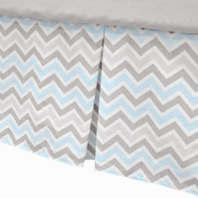 Grey Zigzag Baby Bedding