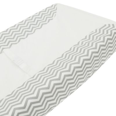 TL Care® Fashion Contoured Changing Table Cover in Grey Zigzag
