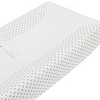 TL Care® Fashion Contoured Changing Table Cover in Grey Dot