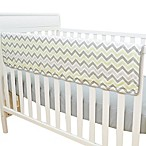 TL Care® Crib Rail Cover in Celery and Grey Zigzag