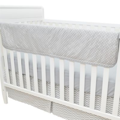 TL Care® Crib Rail Cover in Grey and White Dot