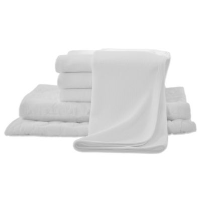 6-Piece Crib Bedding Starter Kit in White