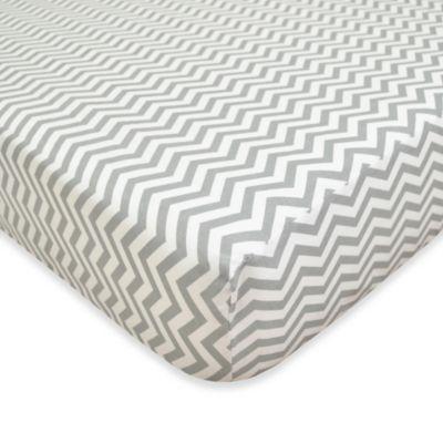 Grey Zig Zag Baby Bedding