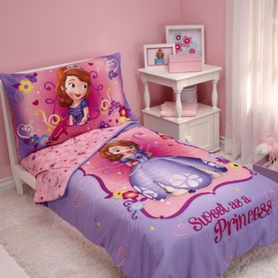 "NoJo® Disney® Sofia the First ""Sweet as a Princess"" 4-Piece Toddler Bed Bedding Set"