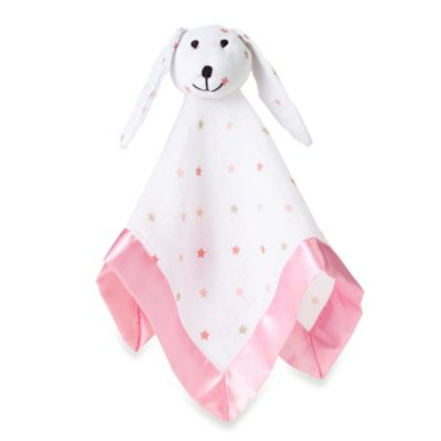 aden + anais® 100% Cotton Muslin Lovey Blanket in Pink