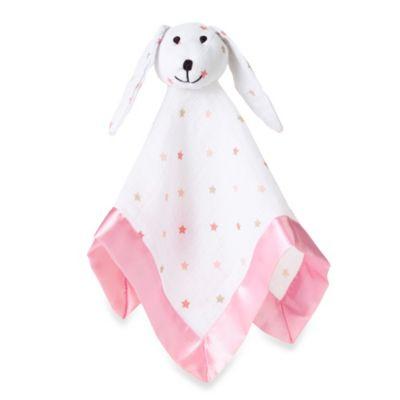 aden + anais® 100% Cotton Muslin Lovey Blanket in Pink