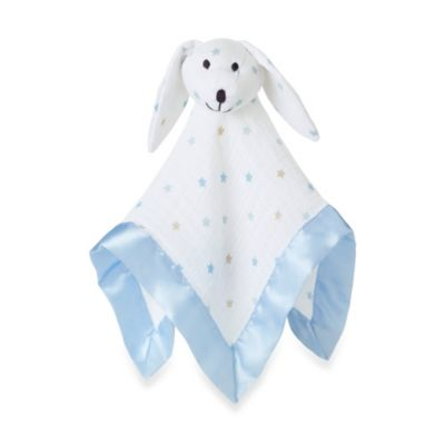 aden + anais® 100% Cotton Muslin Lovey Blanket in Blue