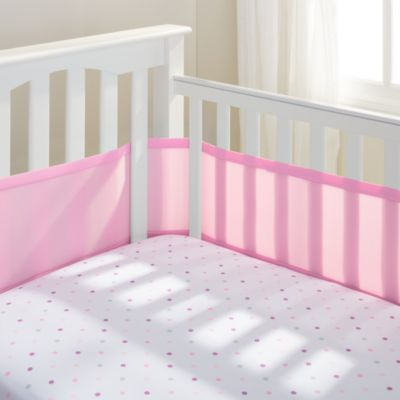BreathableBaby® Mix & Match Breathable Mesh Crib Liner in Pink Mist