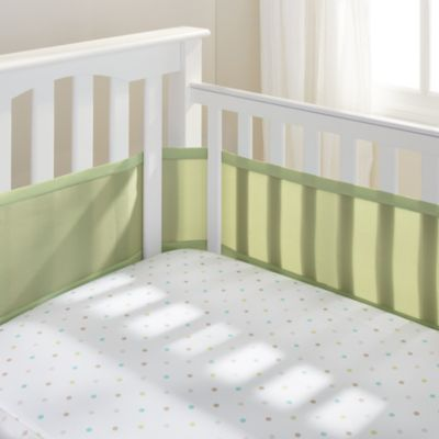 BreathableBaby® Mix & Match Breathable Mesh Crib Liner in Sage Mist
