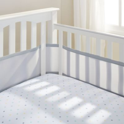 BreathableBaby® Mesh Crib Liner in Grey Mist