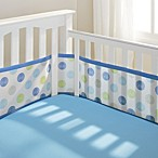 BreathableBaby® Mesh Crib Liner in Blue Swirl Dot