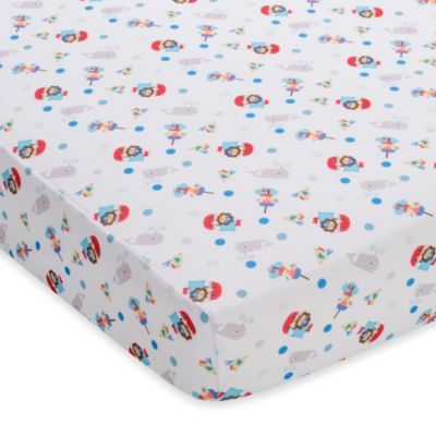BreathableBaby® Breathable Printed Wick-Dry Crib Sheet in Buried Treasure