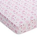 BreathableBaby® Breathable Printed Wick-Dry Crib Sheet in Pink Owl