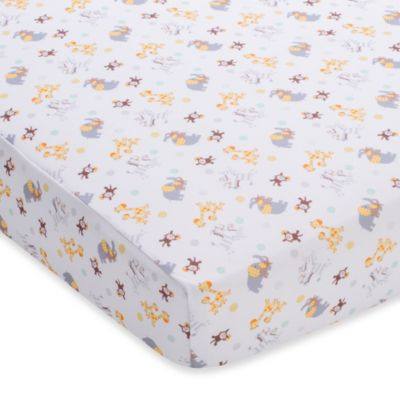 BreathableBaby® Breathable Printed Wick-Dry Crib Sheet in 2 By 2 Safari