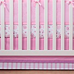BreathableBaby® Crib Skirt in Pink and Pink Stripe