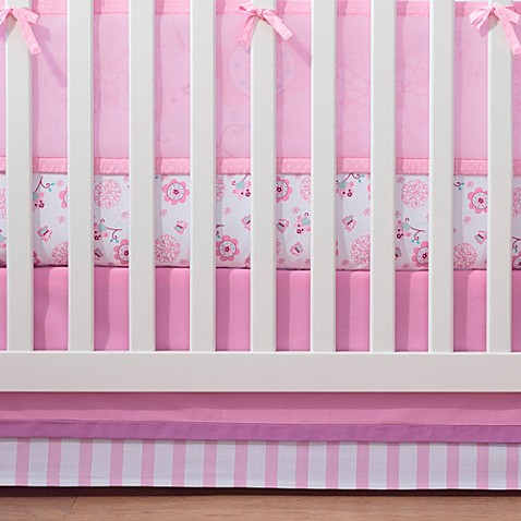 Breathablebaby 174 Mix Amp Match Breathable Crib Skirt In Pink