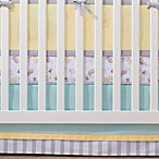 BreathableBaby® Crib Skirt in Aqua and Grey Stripe