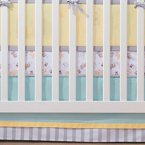 Breathablebaby 174 Mix Amp Match Breathable Crib Skirt In Aqua