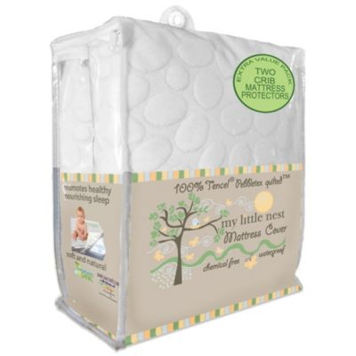 Dreamtex My Little Nest 2-Pack Waterproof Tencel® Pebbletex Crib Mattress Pad