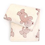 Tadpoles 3D Bears Jacquard Baby Blanket in Brown
