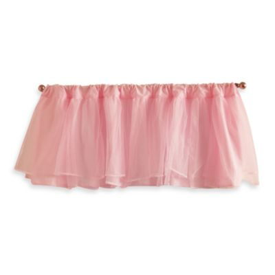 Tadpoles Tulle Window Valance in Pink