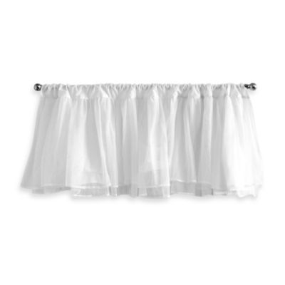 Tadpoles Tulle Valance in White