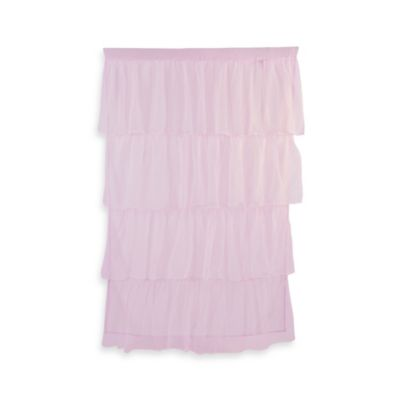 Tadpoles Tulle Window Curtain Panel in Pink