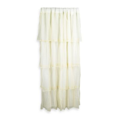 Tadpoles Tulle Window Curtain Panel in Ivory