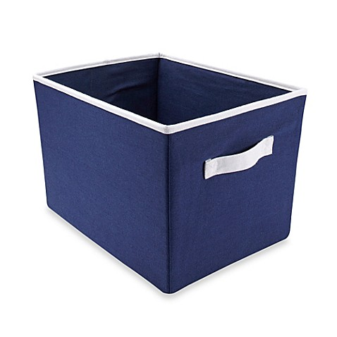 Wendy bellissimo mix match storage bin in navy bed for Navy bathroom bin