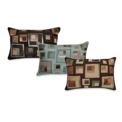 Stacked Squares Oblong Toss Pillow