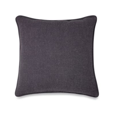 Contemporary Loft Square Throw Pillow in Black
