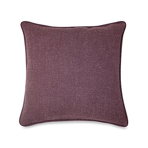Modern Square Pillow Pull : Buy Contemporary Loft Square Throw Pillow in Eggplant from Bed Bath & Beyond