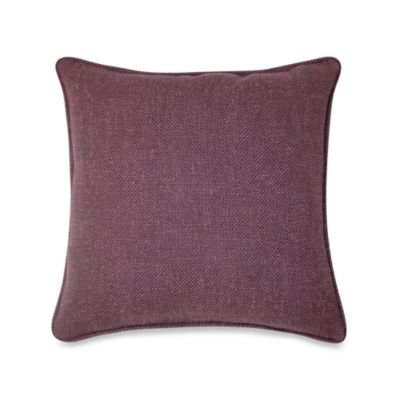 Buy Contemporary Loft Square Throw Pillow in Eggplant from Bed Bath & Beyond